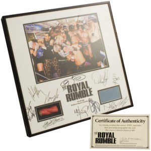 World Wrestling Entertainment 2008 Royal Rumble autograph plaque. (WWE photo)