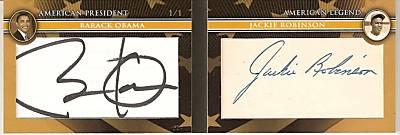 Barack Obama Jackie Robinson Dual Autograph Hits Ebay Beckett News