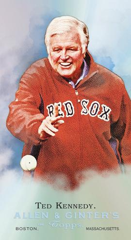 Topps Set To Produce Ted Kennedy Etopps Baseball Card