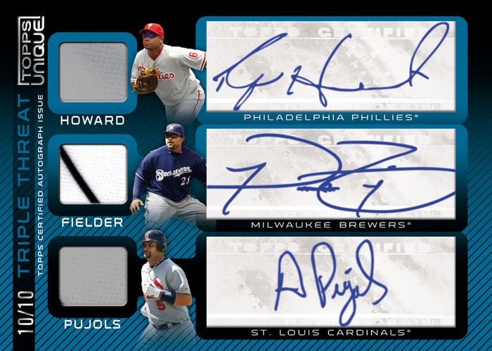 baseball cards 2009. hot in their 10-card 2009