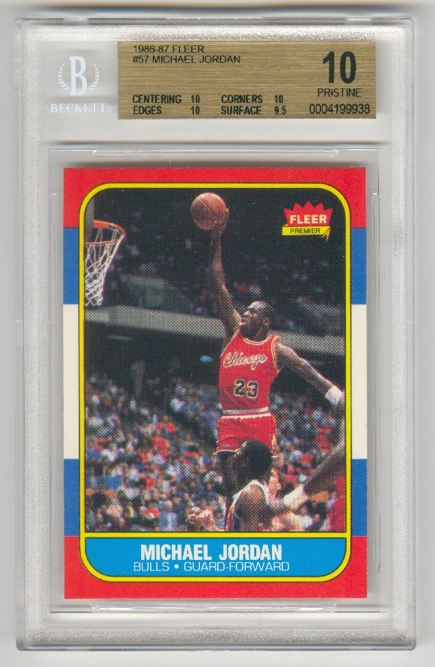 Perfect Michael Jordan Rookie Card Sells For 200000 The