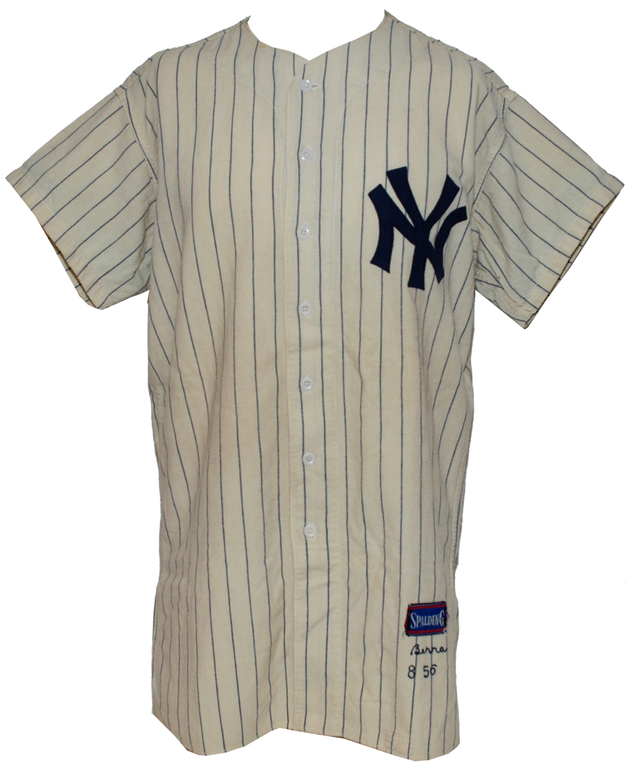 100% authentic 0b4e9 f3bc8 Yogi Berra's perfect game jersey already topping $240,000 on ...